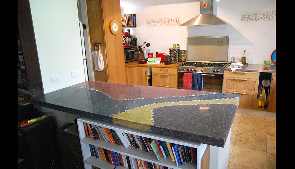 Hannan Build Polished concrete benchtop project
